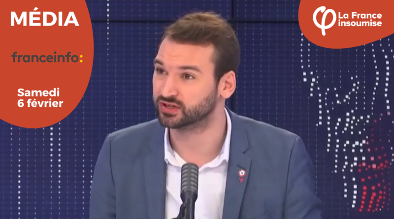 Ugo Bernalicis invité politique du 8h30 france info