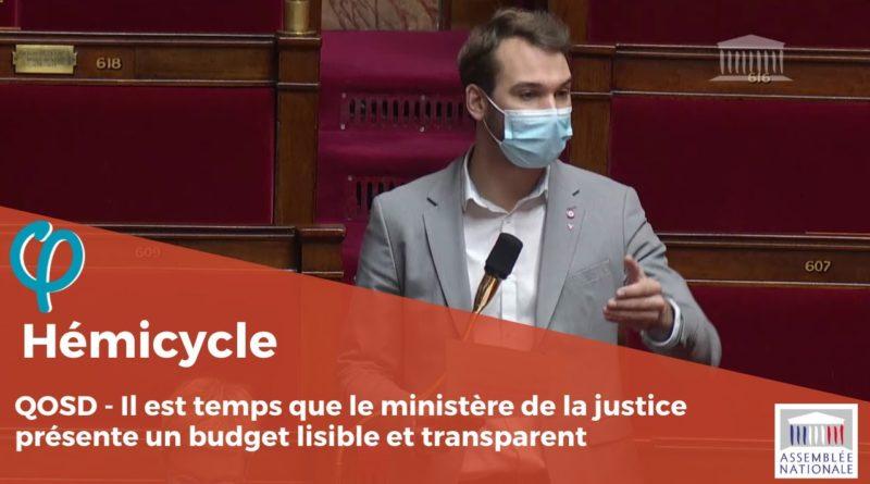 À quand un budget de la justice lisible et transparent ?